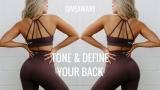 TONE & DEFINE Back Workout +  Clothing Haul | WHITMAS Day 13