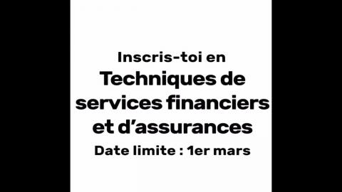 DEC   Techniques de services financiers et d'assurances