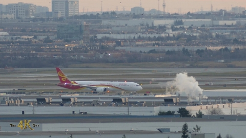 YYZ: Hainan Airlines Boeing 787-9 Dreamliner taxi & takeoff 11-29-2020
