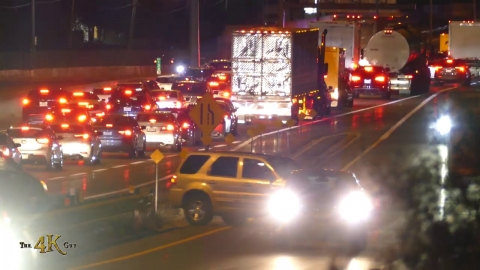 Mississauga: Drivers u-turn and go wrong way on QEW ramp after crash...