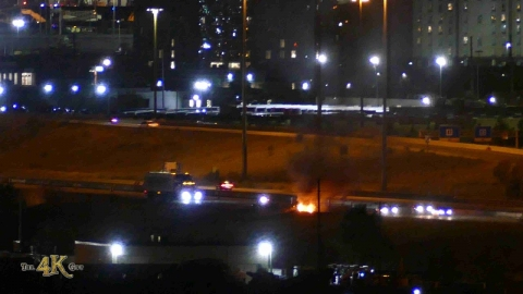 Toronto: Car fire at 427 and 409 on Mississauga border 9-11-2020