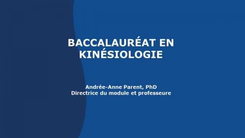Baccalauréat en kinésiologie