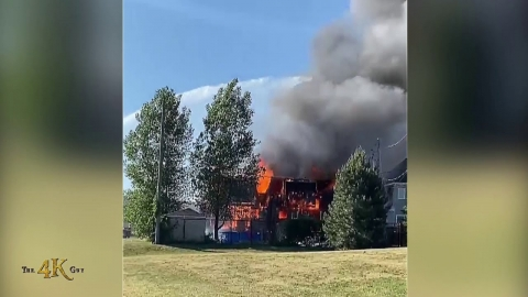 L'Assomption: Fire engulfs an entire home in the Lanaudière region...
