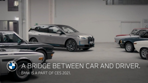 A bridge between car and driver. BMW is a part of CES 2021.