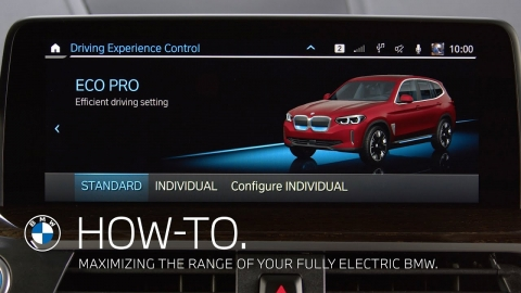 Maximizing the range of your fully electric BMW – BMW How-To
