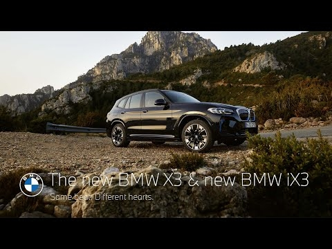 The new BMW X3 and the new BMW iX3