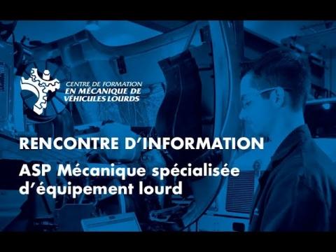 ASP   Mécanique spécialisée d'équipement lourd + RAC