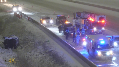 Brampton: Rollover on the 407 during x-mas snowstorm 12-24-2020