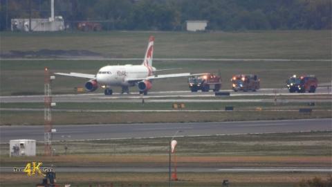 Toronto: Air Canada A319 with landing gear door stuck open emergency...