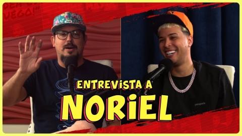 Noriel barre el piso con Chente en plena entrevista