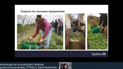 DEC | Technologie de la production horticole agroenvironnementale