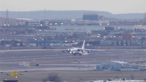 YYZ: Volga-Dnepr An-124 landing on R05 in Toronto, Canada