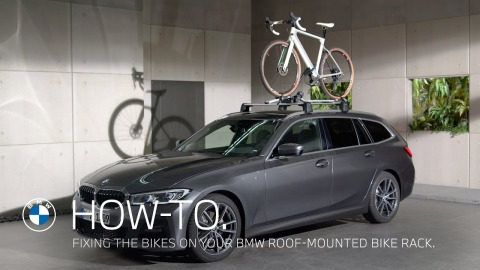 Fixing the bikes on your BMW Roof-Mounted Bike Rack – BMW How-To