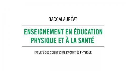 Baccalauréat en enseignement en éducation physique et à la santé