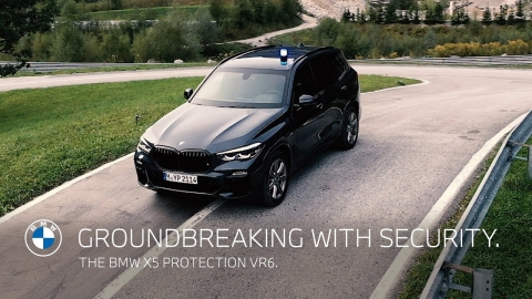 Groundbreaking with security. The BMW X5 Protection VR6.