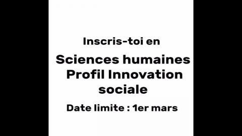DEC   Sciences humaines, profil Innovation sociale