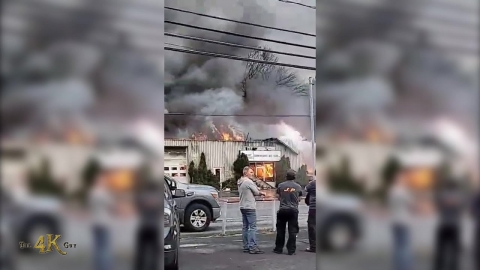 Sorel-Tracy: Major blaze levels two buildings at auto body shop...