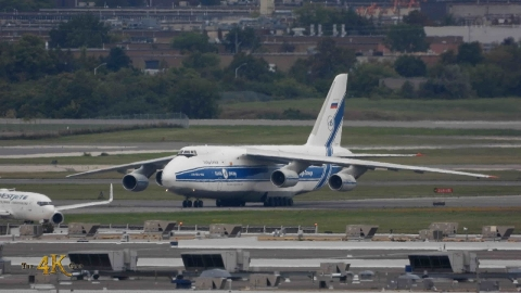 Volga Dnepr Antonov An-124 Ruslan Departing Toronto Pearson Airport
