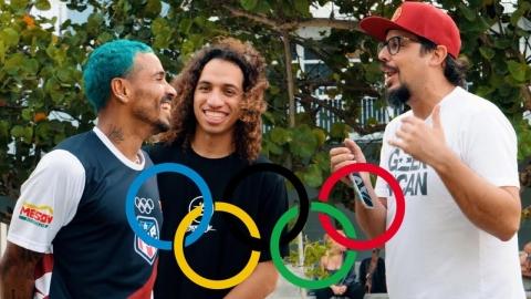 Van a las Olimpidiadas en patineta 🇵🇷🛹🇵🇷