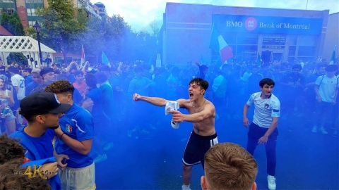 Vaughan: Extended raw video of Italy Euro win Woodbridge celebrations...