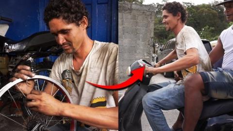 UN CIEGO MANEJA UNA MOTOCICLETA 🏍 La historia del ciego que ve !