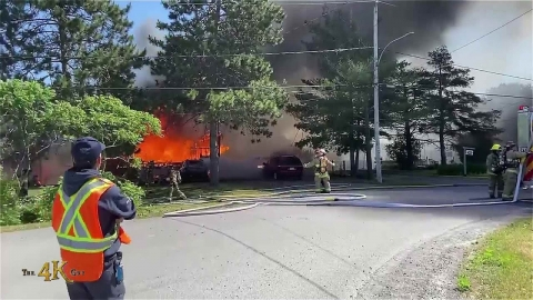 St-Liguori: Witness video of fully involved rural house on fire...