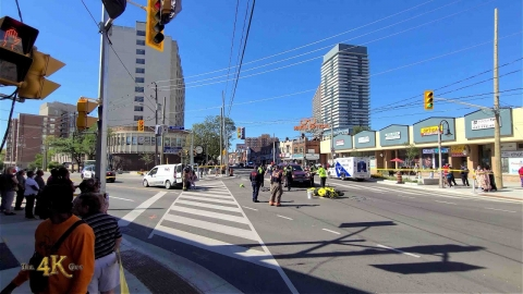North York: Sport biker DOA after Weston and Lawrence collision...
