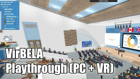 VirBELA 20min Playthrough & first impressions (PC & VR)
