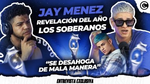 """JAY MENEZ NOMINADO REVELACIÓN DEL AÑO EN PREMIOS SOBERANO """"SE..."""