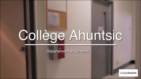 Visite virtuelle des locaux du département de Cinéma