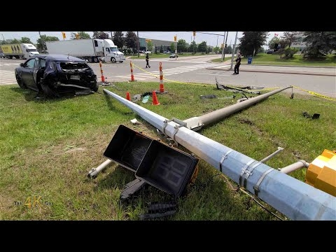 Brampton: BMW rear-ends car and takes down light...