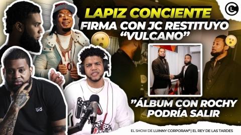 """LAPIZ CONCIENTE PODRÍA GRABAR ALBUM CON ROCHY RD """"FIRMA CONTRATO..."""