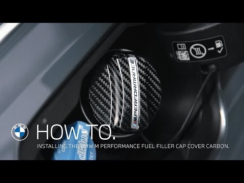 Applying the BMW M Performance Fuel Filler Cap Carbon Cover - How To