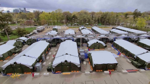 Canada: Armed Forces set up base camp at Toronto's main hospital...