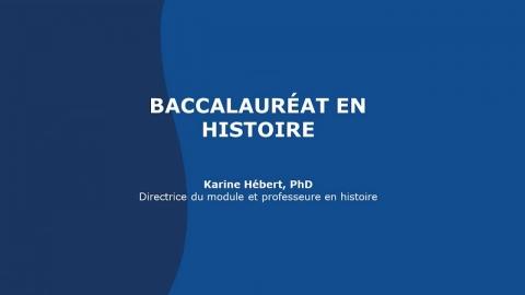 Baccalauréat en histoire
