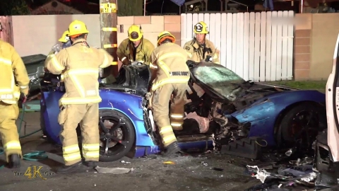 California: Corvette multi victim fatal crash with extrication...