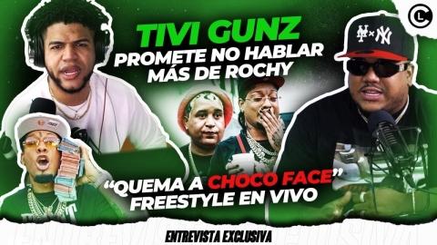 TIVI GUNZ PROMETE NO HABLAR MÁS DE ROCHY RD, PERO QUEMA A CHOCO FACE...
