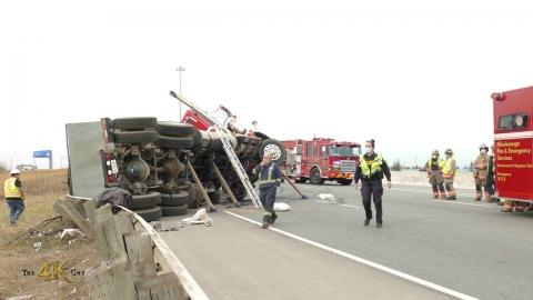 Mississauga: Highway 427 crash with jackknife tractor trailer 4-6-2021