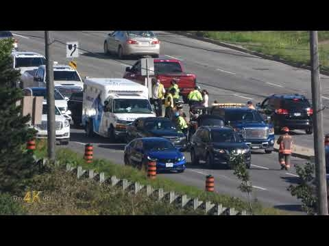 Rexdale: Minor injuries reported at multi car MVC on Queens Plate Dr...