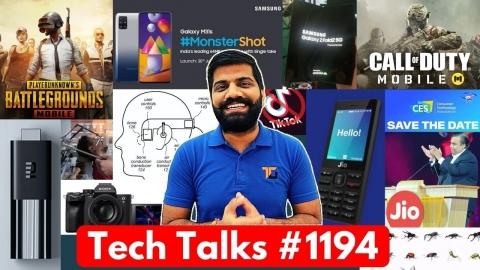 Tech Talks #1194 - NO PUBG Ban?, M31s, TikTok...