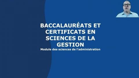 Baccalauréat en administration