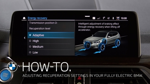 Adjusting Recuperation settings in your fully electric BMW – BMW...