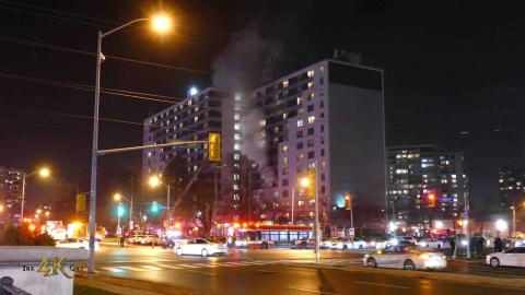 Toronto: Five alarm fire throws numerous residents to the streets...