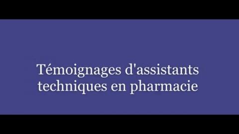 DEP | Assistance technique en pharmacie