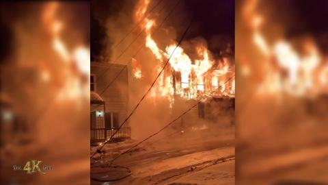 Nicolet: Powerful destructive blaze ravages entire apartment building...