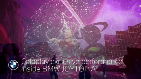 Coldplay exclusive performance inside BMW JOYTOPIA