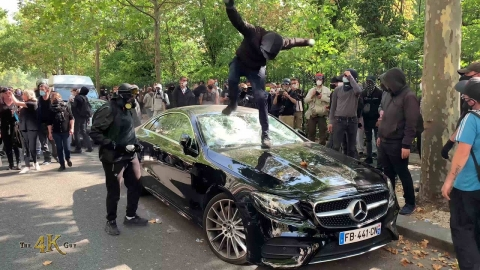 Paris: Clashes and chaos on yet another Saturday of protest 9-12-2020