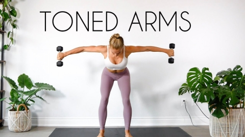 10 MIN TONED ARMS WORKOUT (At Home Minimal Equipment)