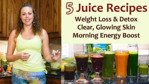 My Top 5 Juice Recipes for Glowing Skin, Health & Weight Loss ♥ Juicing Tips, MOD Cold Press Juicer