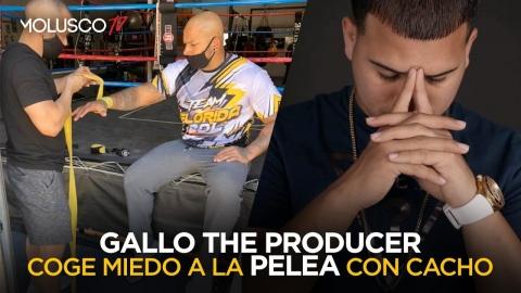Se le cae todo a Gallo The Producer, se va corriendo de pelea con Cacho 🥊🤦🏻♂️